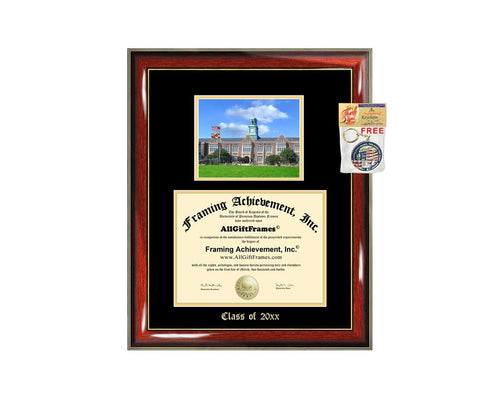 Diploma Frame Big Towson University Graduation Gift Case Embossed Picture Frames Engraving Degree Graduate Bachelor Masters MBA PHD Doctorate School