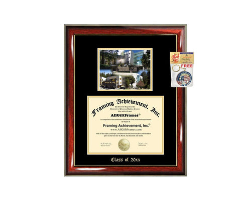 Diploma Frame Big UCSC University of California Santa Cruz Graduation Gift Case Embossed Picture Frames Engraving Degree Graduate Bachelor Masters MBA PHD Doctorate School