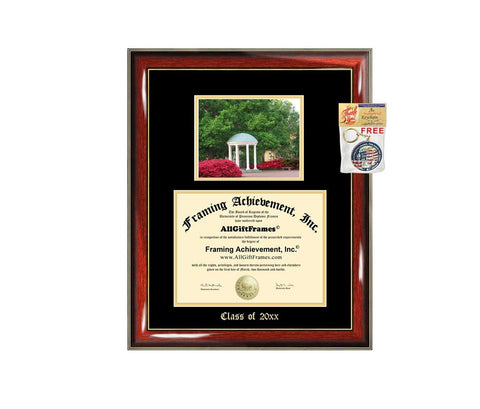 Diploma Frame Big UNC University North Carolina Chapel Hill Graduation Gift Case Embossed Picture Frames Engraving Degree Bachelor Masters MBA PHD Doctorate School