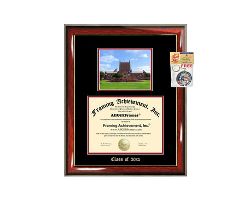 Diploma Frame Big University of Tulsa Graduation Gift Case Embossed Picture Frames Engraving Degree Graduate Bachelor Masters MBA PHD Doctorate School