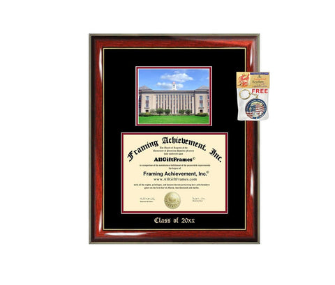 Diploma Frame Big University of Nebraska Lincoln UNL Graduation Gift Case Embossed Picture Frames Engraving Degree Graduate Bachelor Masters MBA PHD Doctorate School