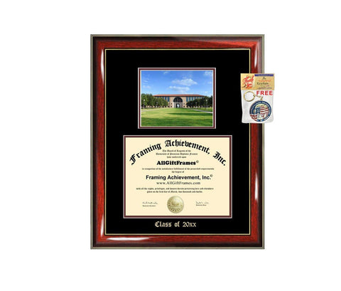 Diploma Frame Big TAMIU Texas A&M International University Graduation Gift Case Embossed Picture Frames Engraving Degree Bachelor Masters MBA PHD Doctorate School