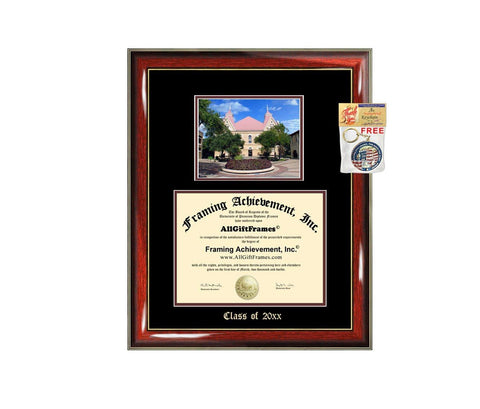 Diploma Frame Big Texas State University TSU San Marcos Graduation Gift Case Embossed Picture Frames Engraving Degree Graduate Bachelor Masters MBA PHD Doctorate School