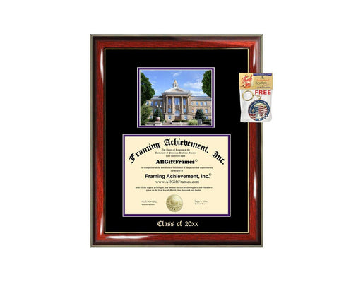 Diploma Frame Big Western Illinois University Graduation Gift Case WIU Embossed Picture Frames Engraving Degree Graduate Bachelor Masters MBA PHD Doctorate School