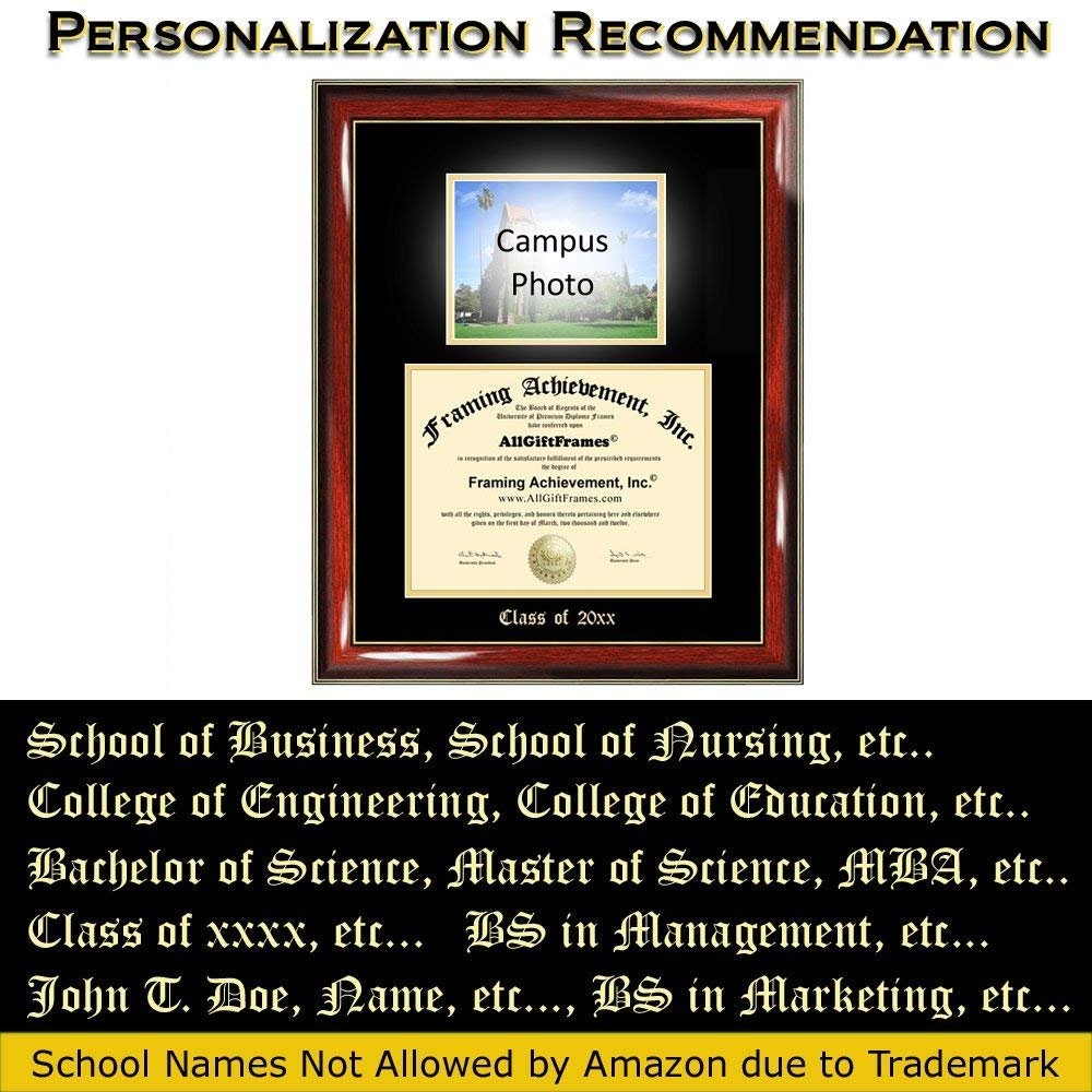 Canisius College diploma frame degree plaque campus photo certificate graduation gift bachelor master mba phd doctorate document case alumni