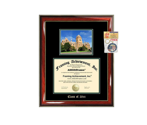 Diploma Frame Big Wayne State University Graduation Gift Case Embossed Picture Frames Engraving Degree Graduate Bachelor Masters MBA PHD Doctorate School
