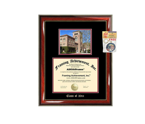 Diploma Frame Big University of Southern California USC Graduation Gift Case Embossed Picture Frames Engraving Degree Graduate Bachelor Masters MBA PHD Doctorate School