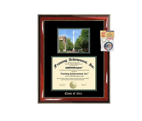 Diploma Frame Big University of North Carolina Charlotte UNCC Graduation Gift Case Embossed Picture Frames Engraving Degree Nursing Business Engineering Education School