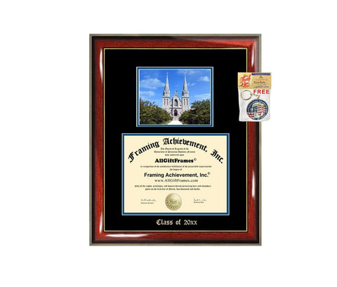 Diploma Frame Big Villanova University Graduation Gift Case Embossed Picture Frames Engraving Degree Graduate Bachelor Masters MBA PHD Doctorate School
