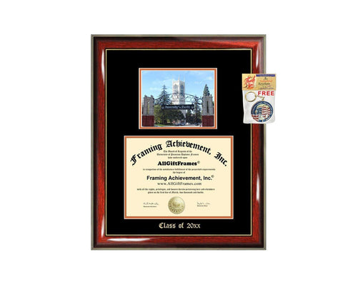 Diploma Frame Big UOP University of Pacific Graduation Gift Case Embossed Picture Frames Engraving Degree Graduate Bachelor Masters MBA PHD Doctorate School