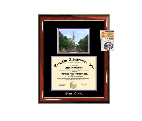 Diploma Frame Big TCU Texas Christian University Graduation Gift Case Embossed Picture Frames Engraving Degree Graduate Bachelor Masters MBA PHD Doctorate School