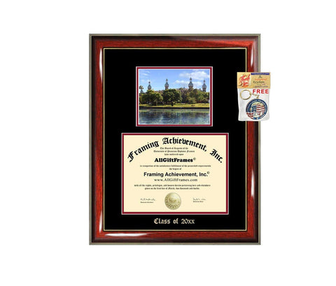 Diploma Frame Big University of Tampa Graduation Gift Case Embossed Picture Frames Engraving Degree Graduate Bachelor Masters MBA PHD Doctorate School