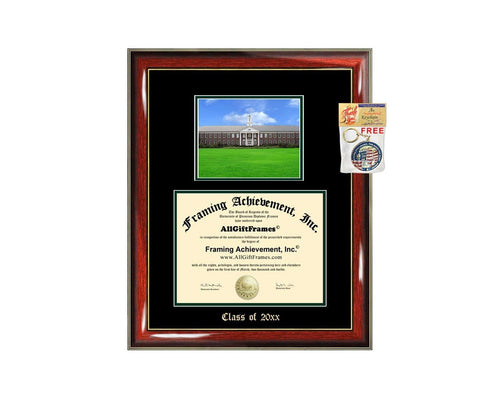 Diploma Frame Big UNCW University of North Carolina Wilmington Graduation Gift Case Embossed Picture Frames Engraving Degree Graduate Bachelor Masters MBA PHD Doctorate School