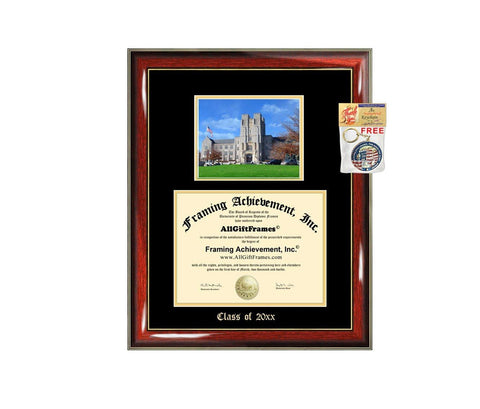 Diploma Frame Big Virginia Tech University Graduation Gift Case Embossed Picture Frames Engraving VT Degree Graduate Bachelor Masters MBA PHD Doctorate School