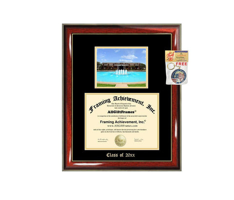 Diploma Frame Big UCF University of Central Florida Graduation Gift Case Embossed Picture Frames Engraving Degree Graduate Bachelor Masters MBA PHD Doctorate School