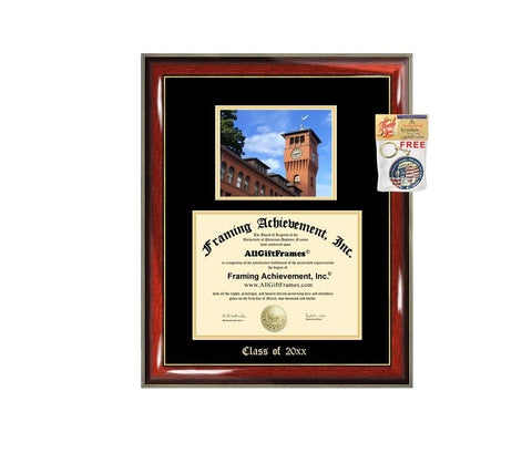 Diploma Frame Big University of Wisconsin Stout UW Stout Graduation Gift Case Embossed Picture Frames Engraving Degree Graduate Bachelor Masters MBA PHD Doctorate School