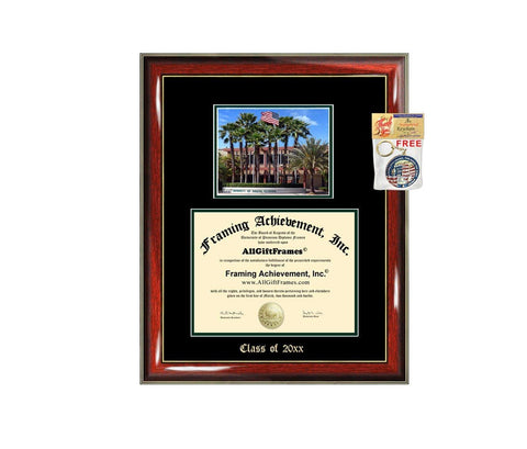 Diploma Frame Big USF University of South Florida Graduation Gift Case Embossed Picture Frames Engraving Degree Graduate Bachelor Masters MBA PHD Doctorate School