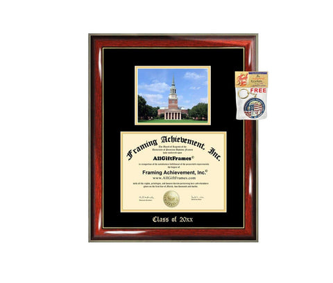Diploma Frame Big WFU Wake Forest University Graduation Gift Case Embossed Picture Frames Engraving Degree Graduate Bachelor Masters MBA PHD Doctorate School