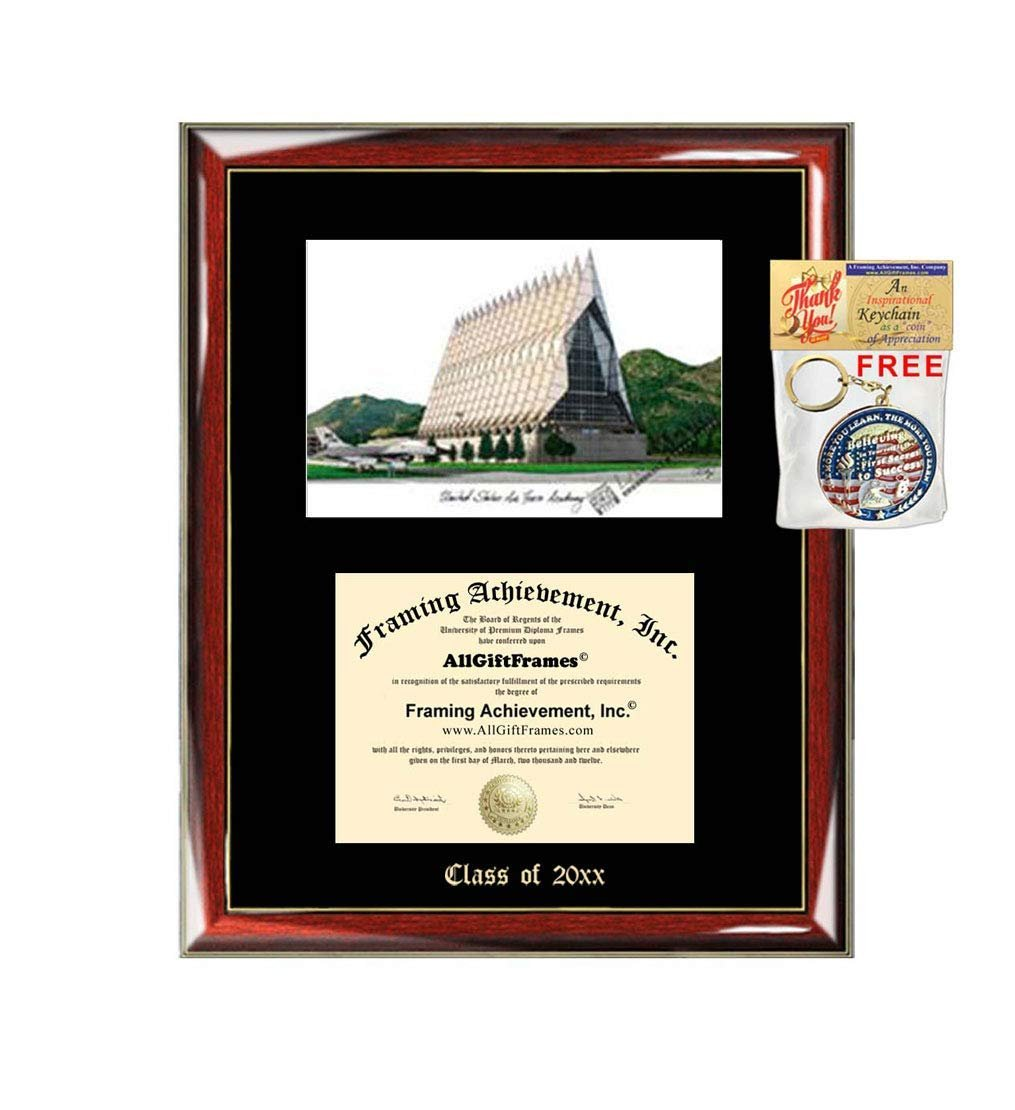 Us Air Force Academy Diploma Frame Emboss Lithograph Graduation Degree