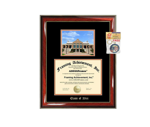 Diploma Frame Big University of Texas Arlington UTA Graduation Gift Case Embossed Picture Frames Engraving Degree Graduate Bachelor Masters MBA PHD Doctorate School