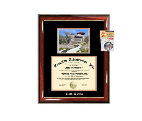 Diploma Frame Big University of Texas El Paso UTEP Graduation Gift Case Embossed Picture Frames Engraving Degree Graduate Bachelor Masters MBA PHD Doctorate School