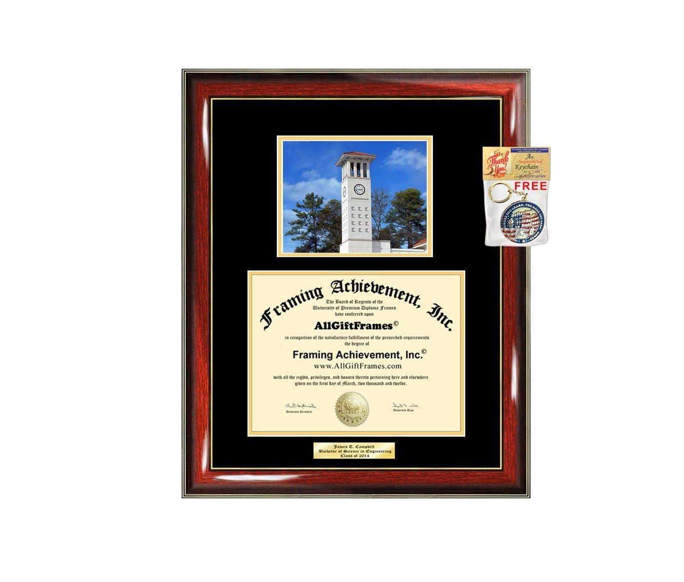 diploma frame emory university graduation gift idea engraved picture f