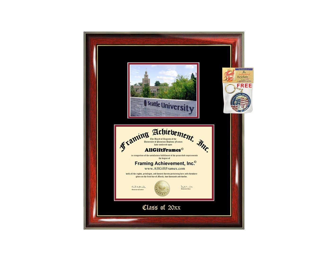 Diploma Frame Big Seattle University Graduation Gift Case Embossed Pic