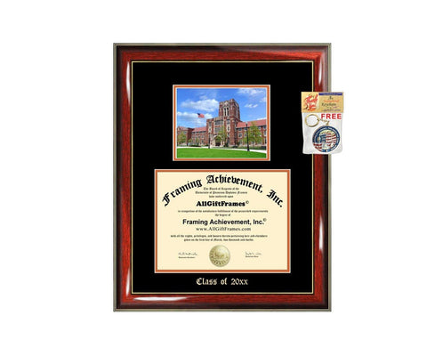Diploma Frame Big University of Tennessee Knoxville UTK Graduation Gift Case Embossed Picture Frames Engraving Degree Graduate Bachelor Masters MBA PHD Doctorate School