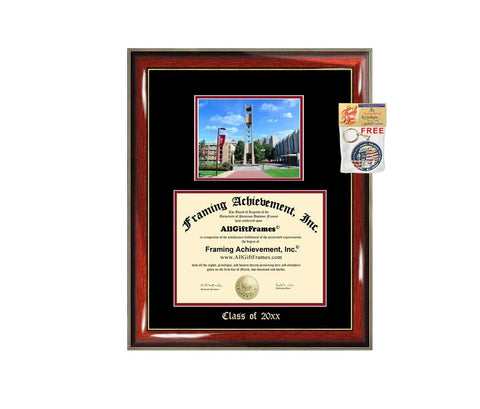 Diploma Frame Big Temple University Graduation Gift Case Embossed Picture Frames Engraving Degree Graduate Bachelor Masters MBA PHD Doctorate School