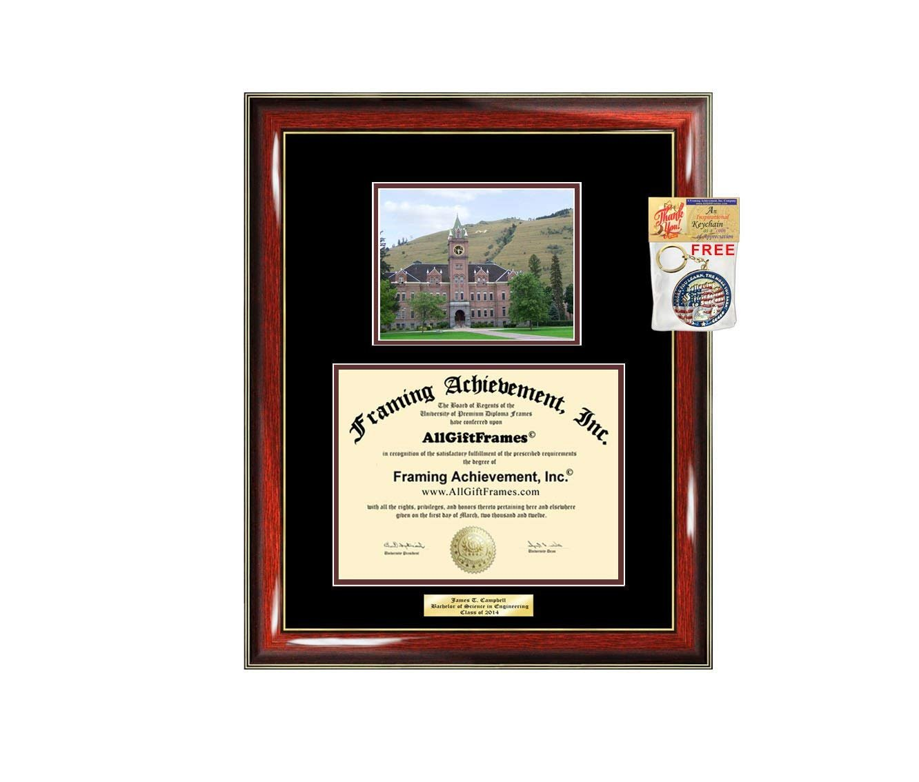 Diploma Frame University of Montana Graduation Gift Idea Engraved Picture  Frames Engraving Degree Cheap Graduate Bachelor Masters MBA PHD Doctorate  School 7ddef1801d3ef
