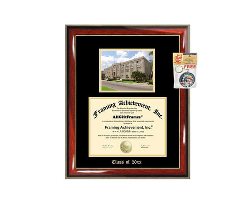 Diploma Frame Big Xavier University of Louisiana Graduation Gift Case XULA Embossed Picture Frames Engraving Degree Bachelor Masters MBA PHD Doctorate School