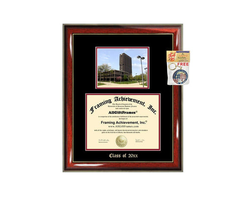 Diploma Frame Big University of Illinois Chicago UIC Graduation Gift Case Embossed Picture Frames Engraving Degree Graduate Bachelor Masters MBA PHD Doctorate School