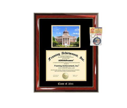 Diploma Frame Big University of Southern Mississippi USM Graduation Gift Case Embossed Picture Frames Engraving Degree Graduate Bachelor Masters MBA PHD Doctorate School
