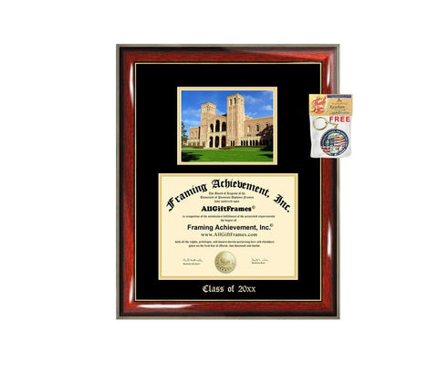 Diploma Frame Big UCLA University of California Los Angeles Graduation Gift Case Embossed Picture Frames Engraving Degree Graduate Bachelor Masters MBA PHD Doctorate School
