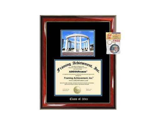Diploma Frame Big University of Illinois Springfield UIS Graduation Gift Case Embossed Picture Frames Engraving Degree Bachelor Masters MBA PHD Doctorate School