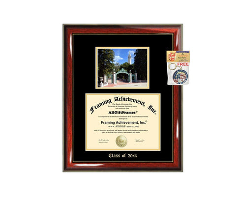 Diploma Frame Big University of California Berkeley UCB Graduation Gift Case Cal Embossed Picture Frames Engraving Degree Graduate Bachelor Masters MBA PHD Doctorate School