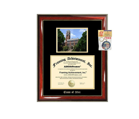 Diploma Frame Big Vanderbilt University Graduation Gift Case Embossed Picture Frames Engraving Degree Graduate Bachelor Masters MBA PHD Doctorate School