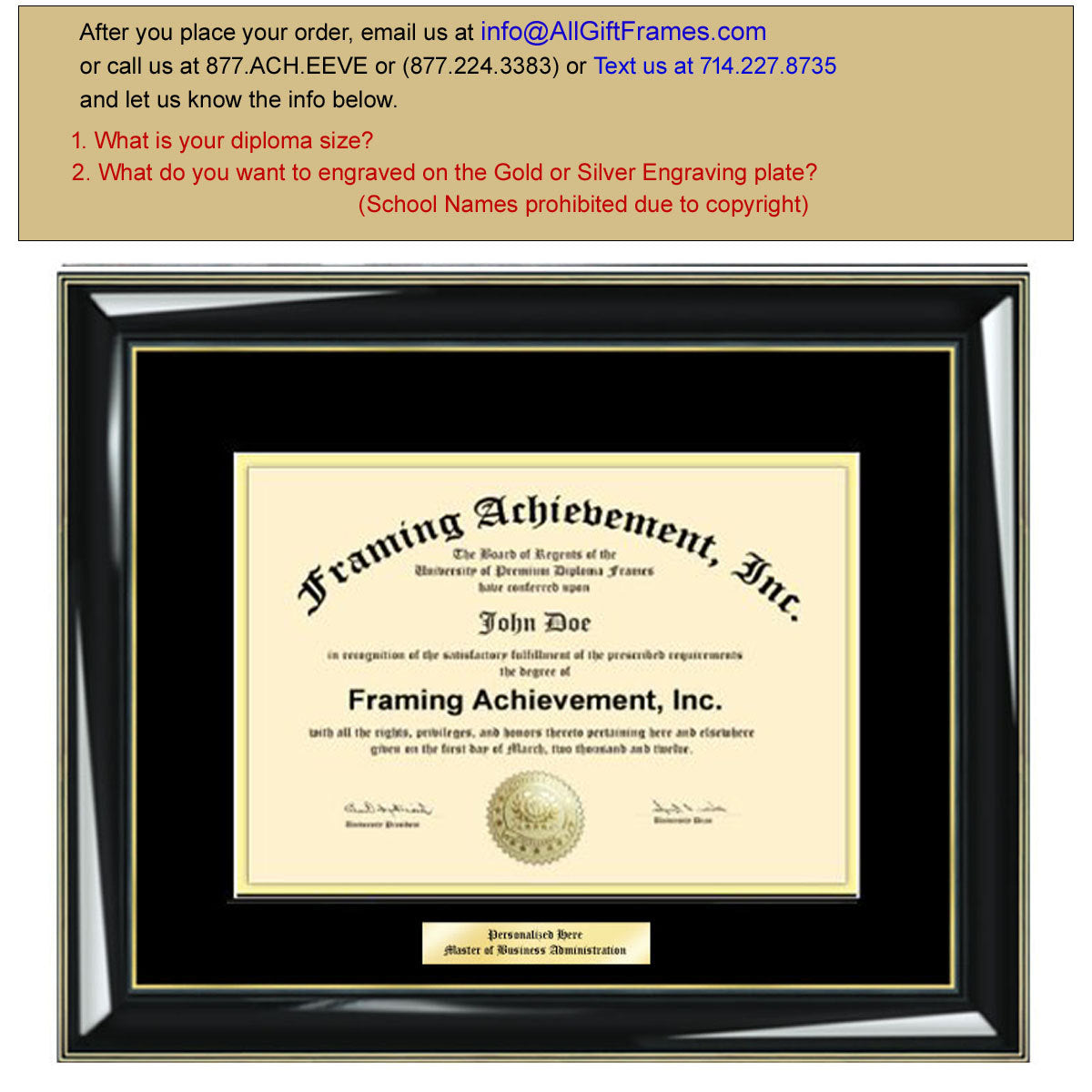 Diploma Frames College Diploma Framing Graduation Gifts Certificate Fr