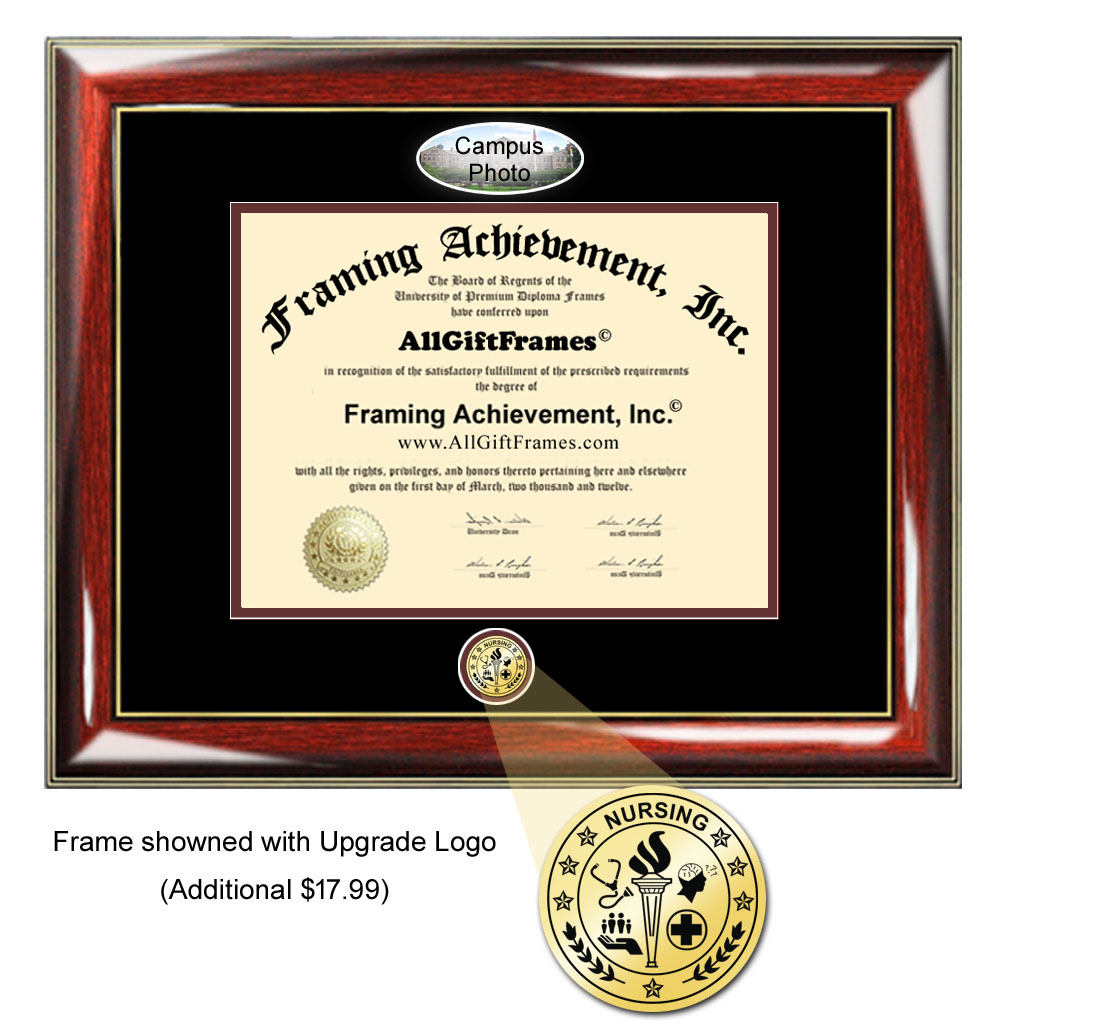 American University diploma frame certificate school picture degree fr