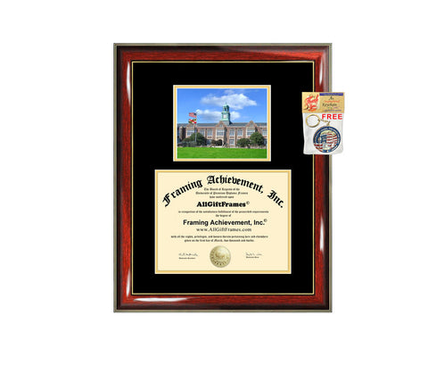Towson University diploma frame campus degree certificate framing gift graduation frames photo document plaque certification Towson graduate