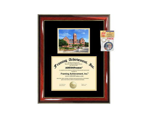 University of Central Oklahoma diploma frame campus photo certificate framing graduation document plaque UCO degree gift