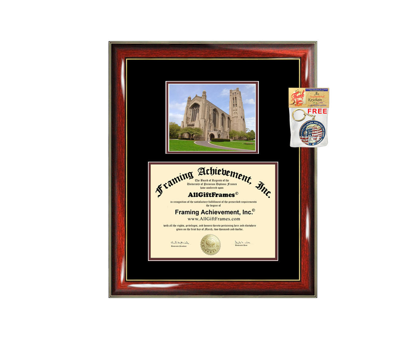 University of Chicago diploma frame campus photo certificate framing g