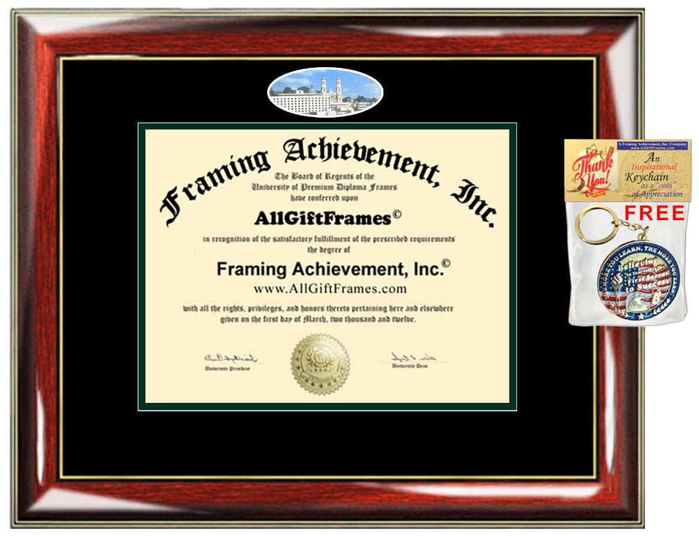 USF diploma frame University San Francisco campus picture degree certi