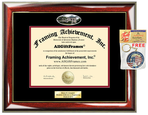 American University diploma frame certificate school picture degree Personalized Bachelor Master Doctorate phd mba Engrave Holder Case