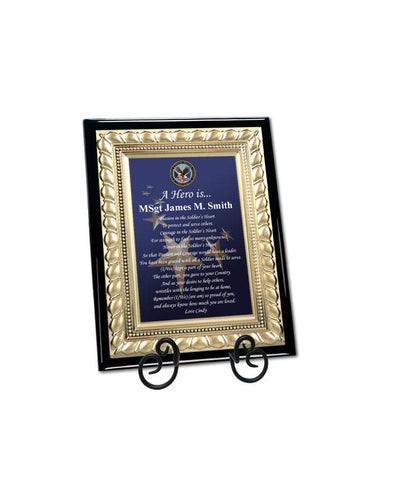 Personalized Military Gift Plaque Going Away Retirement Homecoming Poem Plaque Marine Corps Air Force Navy USMC USAF USN Soldier Service