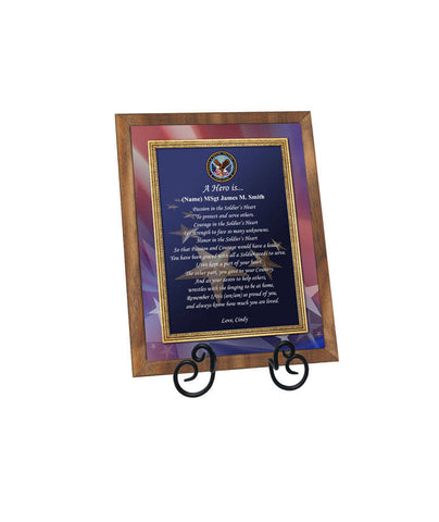 Military Service Award Retirement Homecoming Discharge Recognition Promotion Marine Corps Plaque Soldier Poem Husband Wife Husband Son