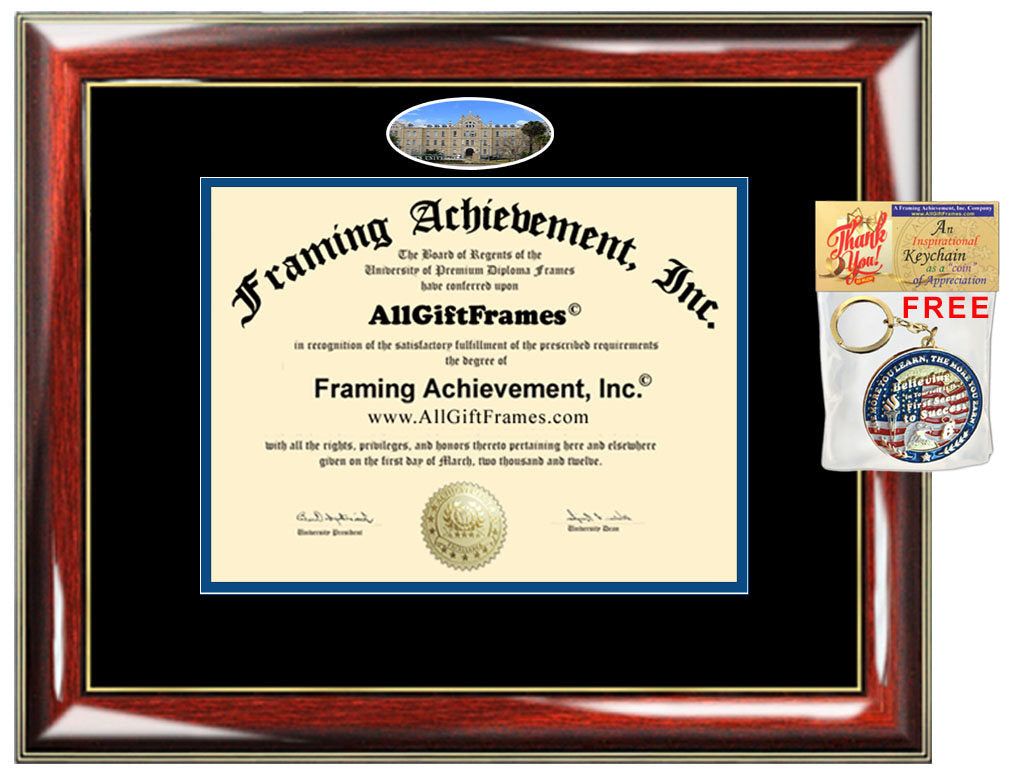 St. Mary\'s University Texas diploma frame campus degree certificate fr