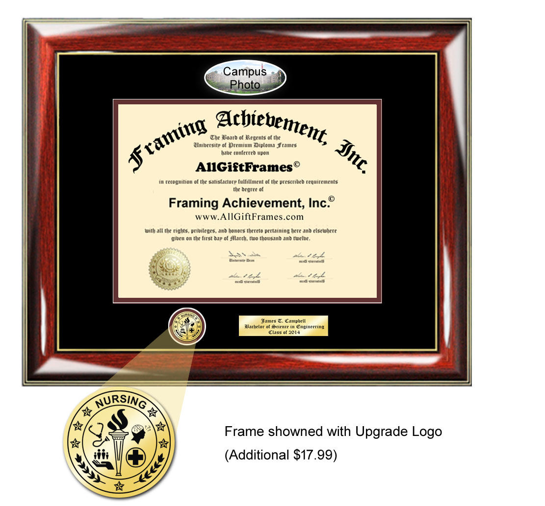 University of Hawaii diploma frame campus picture certificate framing