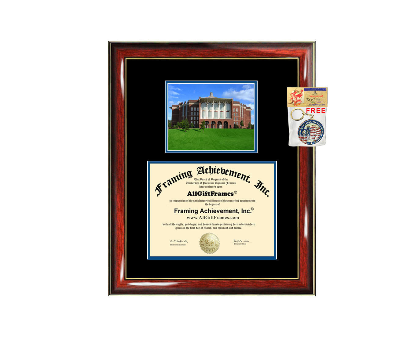 University of Kentucky diploma frame campus picture UK certificate fra