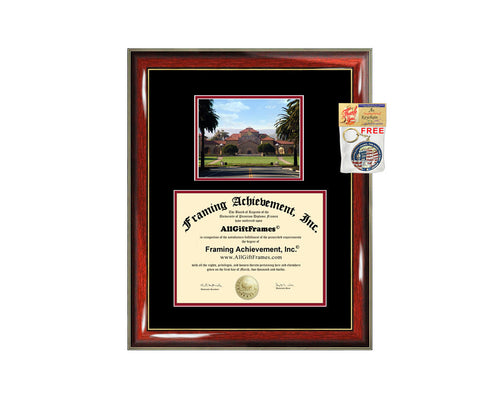 Stanford University diploma frame campus degree certificate framing gift graduation frames photo document plaque certification graduate